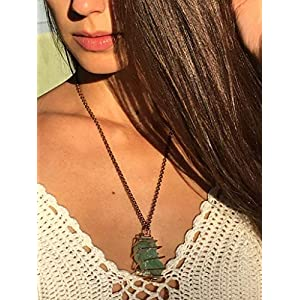 "Green Calcite""Stone of Abundance"" Crystal Necklace"