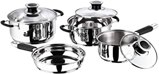 vinod cookware MasterChef Cookware Set of 4 Pieces with 3 Lids