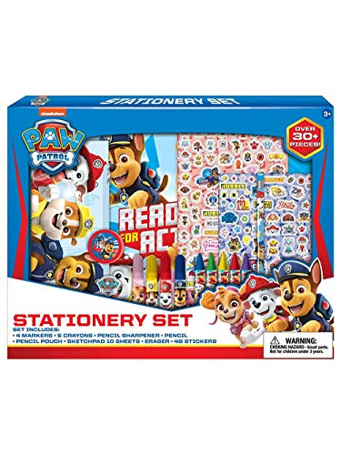 Nickelodeon Paw Patrol School Supplies + Coloring Set for Kids - 30 Pc. w/Stickers & Pencil