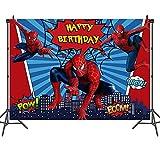 rosepartyh Cumpleaños Decoración Spiderman Foto Fondo para Fotografía de Spider Man y Accesorios de Estudio Superhéroes Cumpleaños Fiesta y Decoración