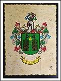 Laámina con escudo del apellido vintage y llavero