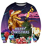 uideazone Unsiex Ugly Christmas Jumper 3D Gedruckt Weihnachten Pullover Sweatshirt Xmas Langarmshirt, A-w6, L