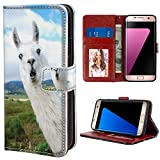 Wallet Case for Samsung Galaxy S7 Edge Cute Goat Sheep Phone Cover TPU Soft Edge PU Leather Card Slot Magnetic Buckle Samsung Galaxy S7 Edge Cute Goat Sheep Flip Case with Magnetic