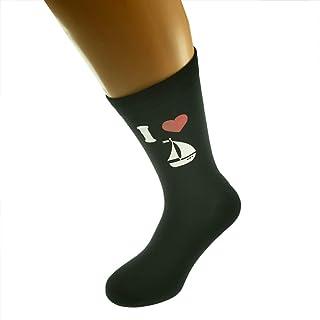 I Love Sailing Picture Design Mens Socks