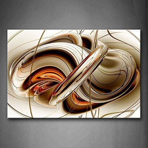 First Wall Art - Abstract Orange White Lines Wall Art Painting The Picture Print On Canvas Abstract Pictures for Home Decor Decoration Gift
