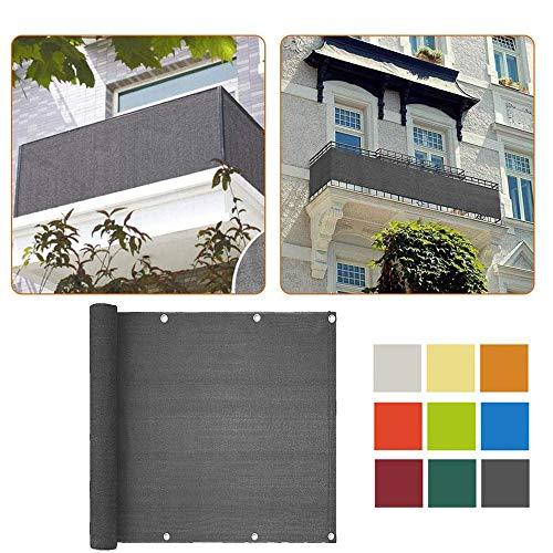 Vela De Sombra De HDPE Cubierta De La Cerca De La Pantalla De Privacidad del Balcón Toldo Casero Protección UV Resistente Al Viento Red De Seguridad De Sombra Rectangular (1X5m)