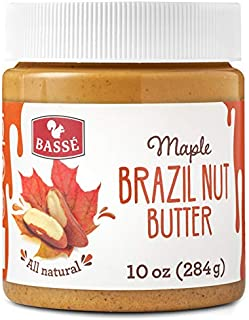 Basse All Natural Brazil Nut Butter, Keto friendly Toast Spread made from Roasted Brazil Nut, Gluten Free, Vegan Butter, Organic Maple 10 Oz (1 Jar)