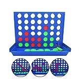 Lifreer 1 PC Tablero Juegos 4 en una Fila Póngase en Fila Estrategia Tablero Juegos Familia Divertido Adecuado para Niños Chicos y Chicas