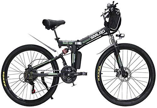 Bicicleta eléctrica Bicicleta eléctrica por la mon 26 pulgadas Bicicletas eléctricas bicicleta de la bici, la bolsa de 48V / 13A / 350W colgantes de suspensión for bicicleta plegable completo Doble fr