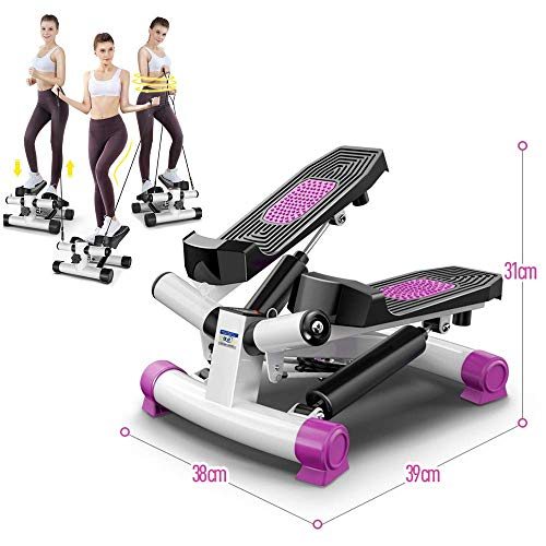 Stepper oefenmachine step mini, stepper aërobe motor Sport stech 2in1 up-down-stepper met Power Ropes voor thuisfitness, 1 ST.
