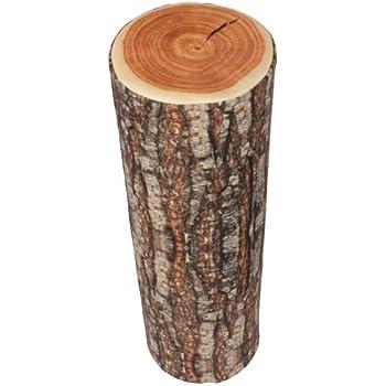 BQLZR Wood Log Soft Decorative Throw Pillow Natural Camping Wood Design (Rectangle)
