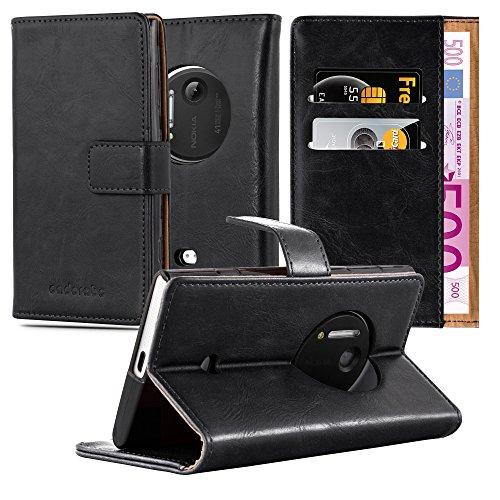 Cadorabo Funda Libro para Nokia Lumia 1020 en Negro Grafito - Cubierta...