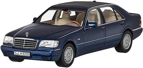 Mercedes Benz W V 140 - S 500 L S Klasse Langversion Blau 1994-1998 Modellauto Ma ab 1 18 Metall NOREV mit beweglichen Teilen
