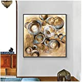 cuadros decoracion salon Pintura abstracta de copas de vino tinto Pintura al óleo pintada sobre lienzo Naturaleza muerta moderna Pintura de arte de pared para decoración del hogar 31.5x31.5in (80x80c