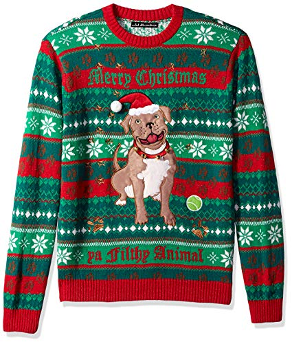 Blizzard Bay Men's Ugly Christmas Sweater Dogs, Green, XX-Large