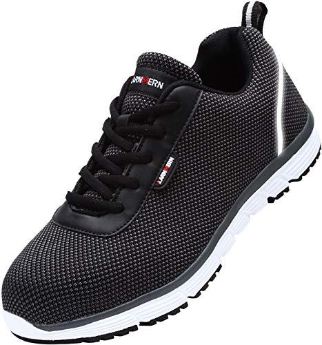 LARNMERN Zapatos de Seguridad Hombres,LM30 S1 SRC Zapatillas de Trabajo con Punta de Acero...