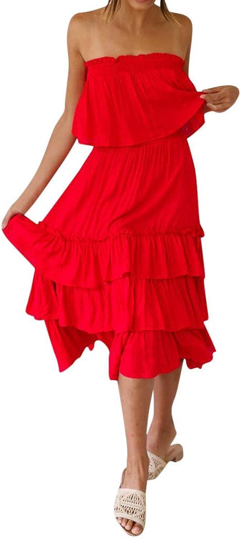 Xinantime Off Shoulder Ruffle Hem Long Bohemia Skirt Maxi Beach Sets Dress Women 2 Pieces Loose Swing Shift Dresses
