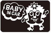 imoninn BABY in car ステッカー 【マグネットタイプ】 No.65 ハーイさん (黒色)
