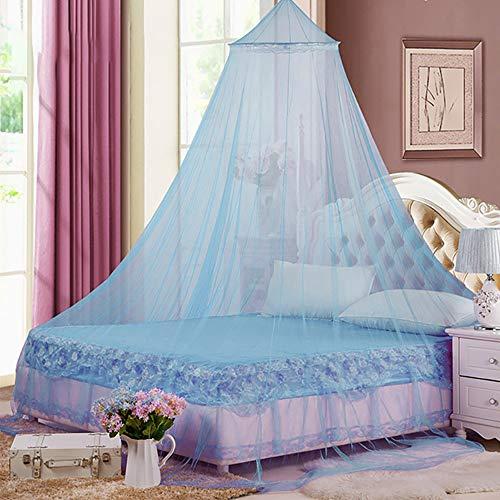 Blau Mückennetz Kinder,mosquito net,Prinzessin Mädchen Moskitonetz aus,Moskitonetz Für Einzel,Abweisendes Netz,Betthimmel,Moskitonetz Bett Reise,Schlafzimmer Dekoration