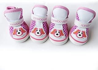 Jim Hugh Pet Dog Shoes Casual Anti-Slip Cute Summer Breathable Soft Mesh Sandals Candy Colors Pet Supplies