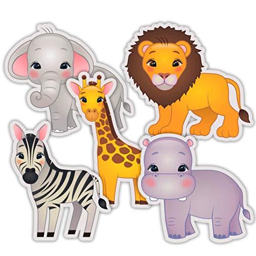 Safari Jungle Cutouts - Zoo Baby Shower Birthday Party Decorations or Kids Classroom Supplies - 20 PCS