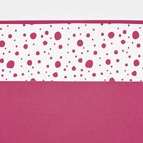 Meyco 434033 Ledikantlaken Dots, Ledikant, Bright Pink
