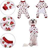 YYHJ Ropa para Perros Mascota Camisa para Cachorros Pijamas patrón...