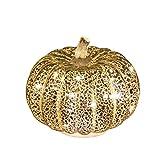 simpdecor Calabaza de Halloween LED Ligero Decorativa Adornos para Halloween para una Gran casa embrujada decoración de Halloween Plata 5.5 ''