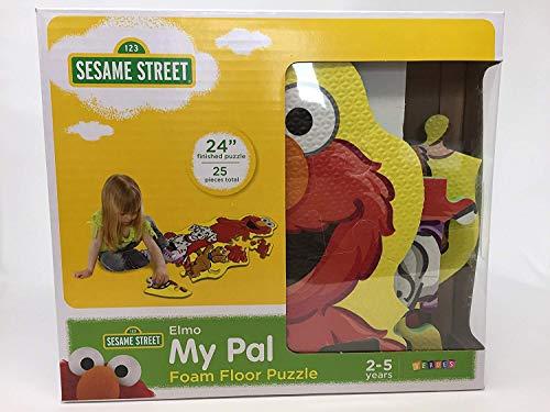 Sesame Street My Pal Elmo Foam Floor Puzzle. Plus Free Bonus Reward Stickers and 1 Box of Sesame Street Flash Cards (Design May Vary).