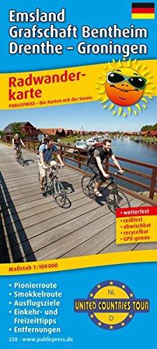 Emsland - Grafschaft Bentheim - Drenthe - Groningen, United Countries Tour: Radwanderkarte mit Ausflugszielen, Einkehr- & Freizeittipps, Entfernungen, ... reissfest, abwischbar, GPS-genau. 1:100000