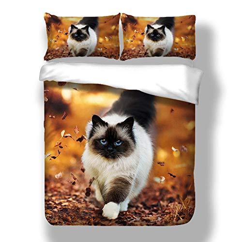 Bedclothes-Blanket Ropa de Cama de la Serie 3D - Funda de edredón y Funda de Almohada, Dormitorio de Cama de Tres Piezas para la Humedad, hipoalergénico, Soltero, Doble-5_210 * 210cm