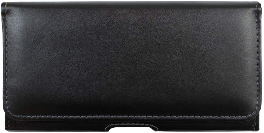 WalR, Belt Clip Case Holster for Samsung Galaxy AO1, Durable Leather Pouch Holder Belt Loop Case Cover, Black