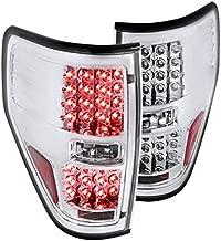 Spec-D Tuning LT-F15009CLED-TM Ford F150 Pickup Xl Xlt Led Tail Lights Brake Lamps Chrome