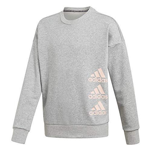 adidas Mädchen Must Haves Sweatshirt, Mgreyh/Hazcor, 152