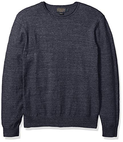 Pendleton Men's Roll Neck Crew Sweater, True Blue, LG