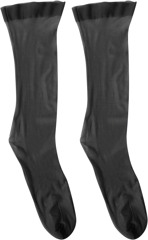 winying Women Mesh Sheer Sock Summer Ultra-thin Socks Middle-length Stockings
