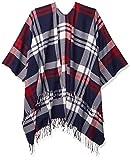 Goodthreads Fringe Ruanna Fashion-Scarves, Plaid Scala Grande Blu Navy, One Size