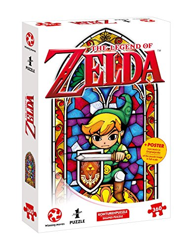 Winning Moves- Number 1 Puzzle-Zelda Link-The Hero of Hyrule (360 Teile) Accesorios, Color carbón (11415)