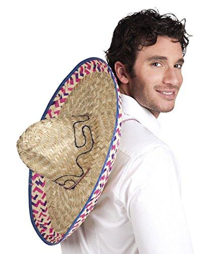 Boland 95424 - Sombrero Salvatore, One Size, Durchmesser 52cm, Mexikaner, Gaucho, Karneval, Themenparty, Mottoparty