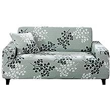 Hotniu Funda Sofa 2 Plazas Fundas Elasticas de Sofá Ajustable Fundas Decorativa para Sofas Estampadas Protector Antideslizante de Sofá con 1 Funda de Cojín, Patrón YZQ