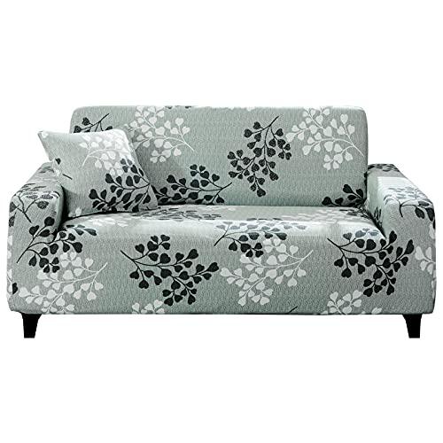 Hotniu Funda Sofa 3 Plazas Fundas Elasticas de Sofá Ajustable Fundas Decorativa para Sofas Estampadas Protector Antideslizante de Sofá con 1 Funda de Cojín, Patrón YZQ