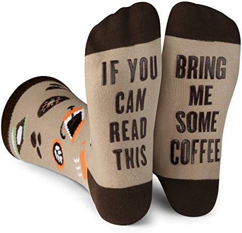 Lavley Mens Novelty Socks Funny Novelty Dress Socks For Men and Women Coffee product image