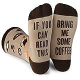 Lavley - Mens Novelty Socks - Funny Novelty Dress Socks For Men and Women (Coffee)