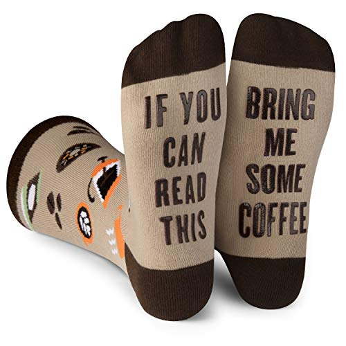 Lavley - Mens Novelty Socks - Funny Novelty Dress Socks For Men and Women (Coffee)