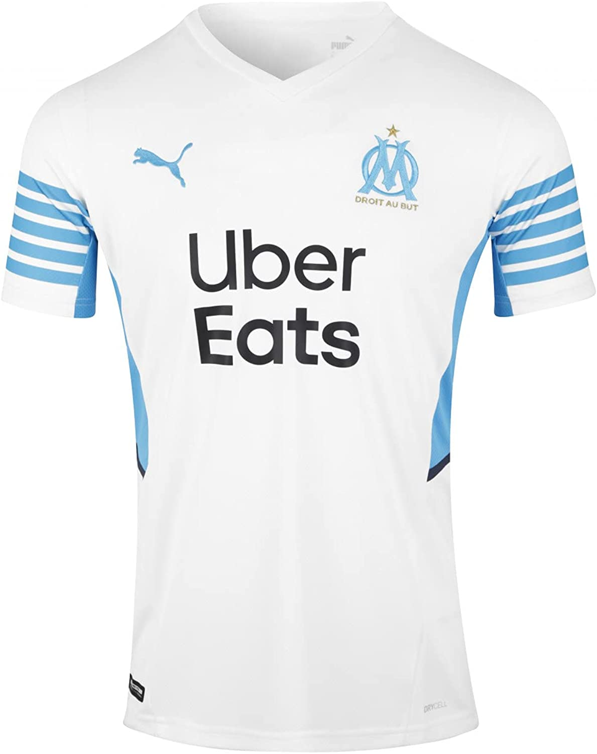 PUMA 2021-2022 Marseille Home Discount is also Direct store underway Football Ki T-Shirt Jersey Soccer