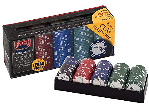 Naipes Heracli Fournier S.A- Fiches Chios da Poker di Argilla, Colore Black, Blue, Green, Red, 1006305