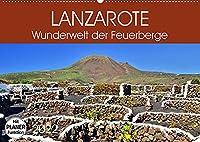 Lanzarote. Wunderwelt der Feuerberge (Wandkalender 2022 DIN A2 quer): Farbenfrohe Insel der Elemente (Geburtstagskalender, 14 Seiten )