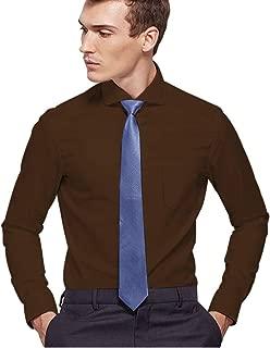 White Dress Shirts for Men Slim Fit, Mens Shirt Pocket Purple Pink Big and Tall