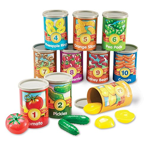 Learning Resources One To Ten Counting Cans Toy Set, 65 Pieces,Multicolor,4-1/4 x 3 in