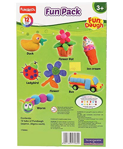 Fundough - Fun Pack , Shaping and Sculpting , 3years + , Multi-Colour 2